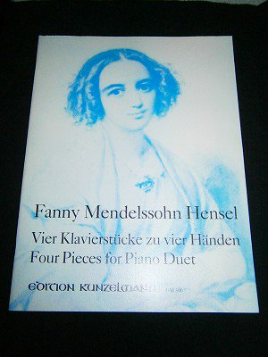 ファニー・メンデルスゾーン Fanny Mendelssohn-Hensel /  4 pieces for pian duet *書き込みあり