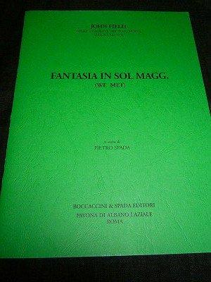 フィールド John Field / Fantasia in G major  for piano solo *微ヤケ、 少書込あり