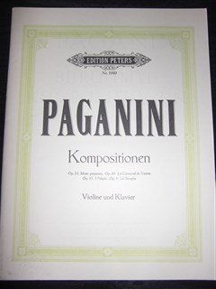 パガニーニ Nicolo Paganini  /  Selected Compositions   for violin & piano