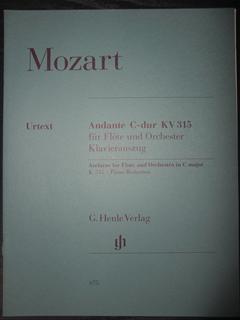 モーツァルト W.A Mozart / Andante C Major, K. 315   ( flute&piano編曲版)