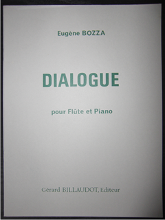 ボザ   Eugene Bozza  /  Dialogue    for flute and piano