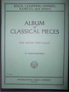 Album of Six Classical Pieces for violin and cello