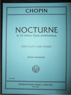 ショパン F. Chopin / Nocturne in C # minor (Op. posth.)  for flute and piano