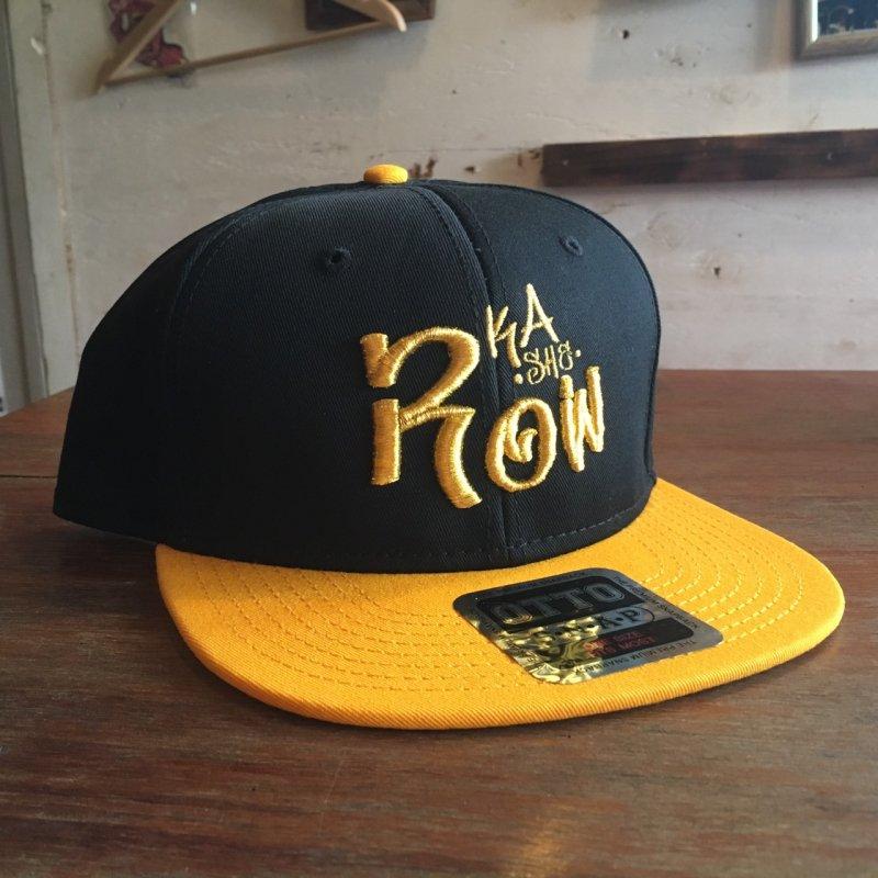 KASHE ROWキャップ 黄色黒×ゴールド