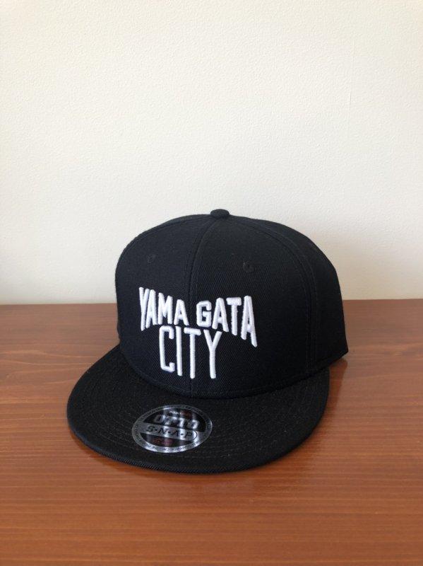 YAMAGATA CITYキャップ 黒×白