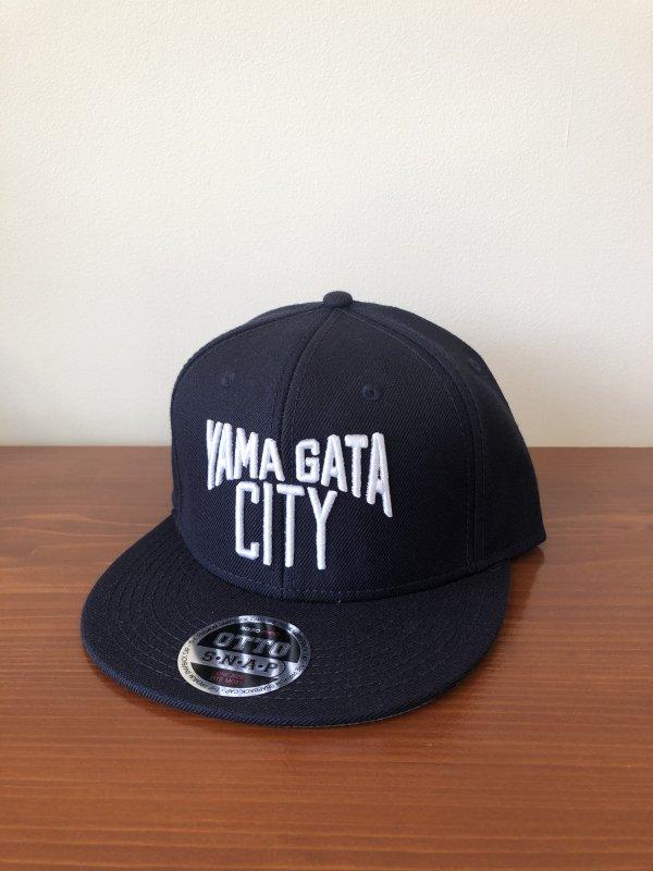 YAMAGATA CITYキャップ 紺×白