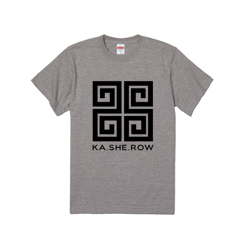 KA・SHE・ROW   Tシャツ グレー×黒