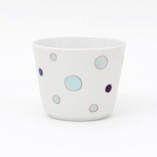 フリーカップ : ドット(ブルー)