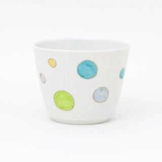 フリーカップ : ドット(グリーン)