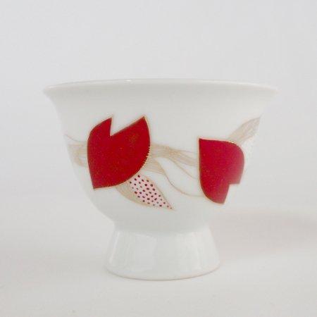 煎茶碗 桜吹雪(木箱入り)<br>/ Oriental tea cup  with a wooden box