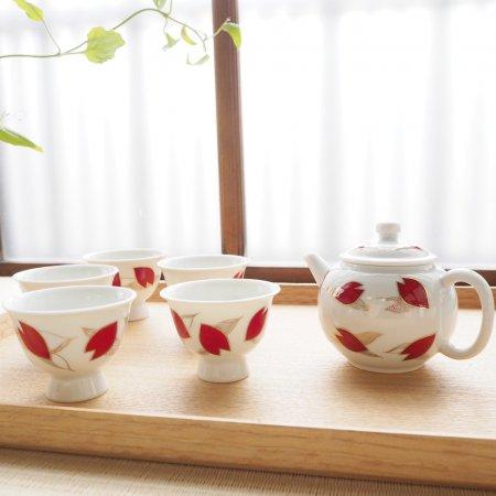 茶器セット 桜吹雪(木箱入り)