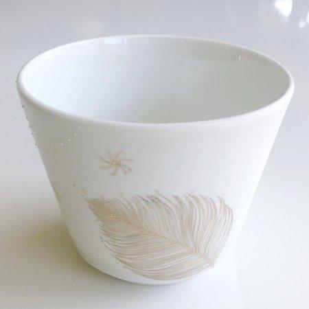 フリーカップ : みにくい花と月明かりの池 �