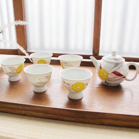 茶器セット 菊(木箱入り)