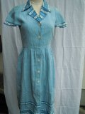 <img class='new_mark_img1' src='https://img.shop-pro.jp/img/new/icons25.gif' style='border:none;display:inline;margin:0px;padding:0px;width:auto;' />☆French 60's,handmade Light blue dress,☆