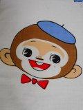 ☆70s,可愛い。お猿さんのハンカチ☆