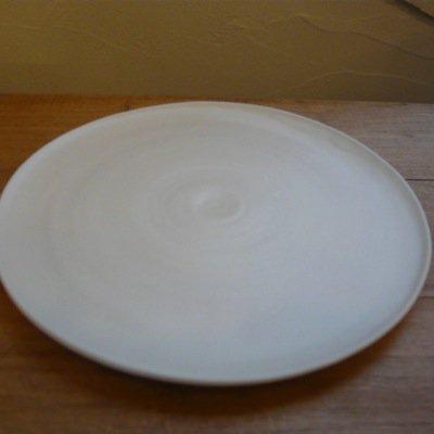 照井壮 乳白釉6寸皿