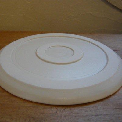 照井壮 乳白釉6寸皿 3