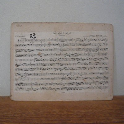 フランス 古い楽譜ボード (A)