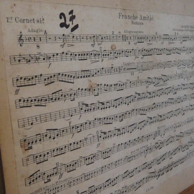 フランス 古い楽譜ボード (A) 2
