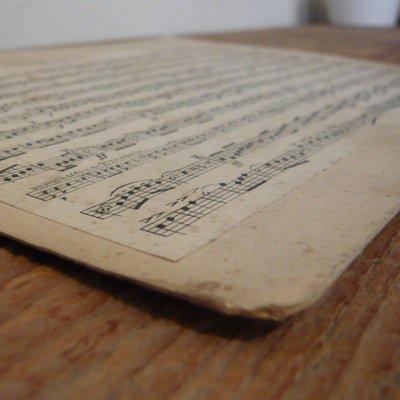 フランス 古い楽譜ボード (A) 3