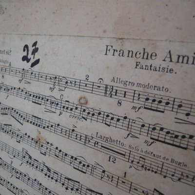 フランス 古い楽譜ボード (A) 4