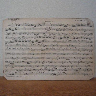 フランス 古い楽譜ボード (B)