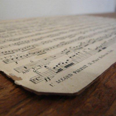 フランス 古い楽譜ボード (B) 2