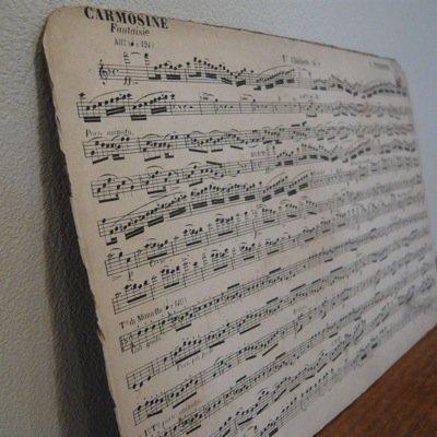 フランス 古い楽譜ボード (B) 3