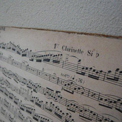 フランス 古い楽譜ボード (B) 4