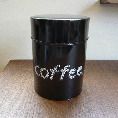 松尾ミユキ コーヒー缶 COFFEE(L)ダークブラウン