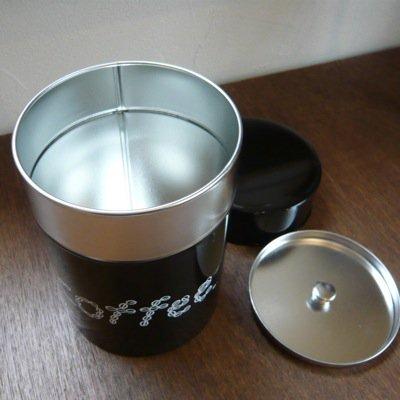松尾ミユキ コーヒー缶 COFFEE(L)ダークブラウン 3