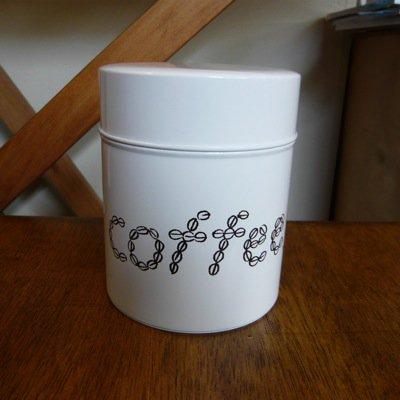 松尾ミユキ コーヒー缶 COFFEE(M)ホワイト