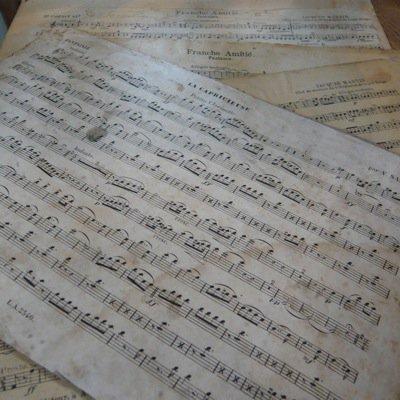 フランス 古い楽譜ボード (大)