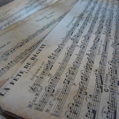 フランス 古い楽譜ボード (大) 2