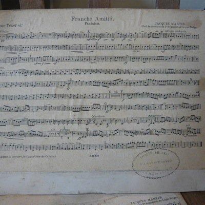 フランス 古い楽譜ボード (大) 3