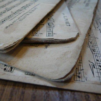 フランス 古い楽譜ボード (大) 4