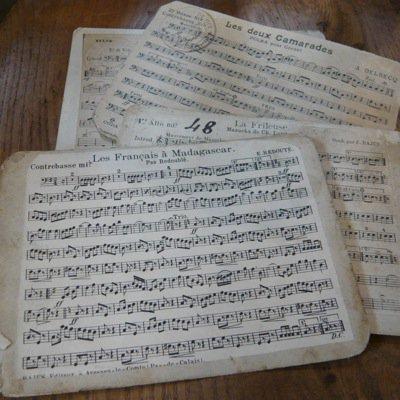 フランス 古い楽譜ボード (小)