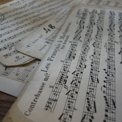フランス 古い楽譜ボード (小) 2
