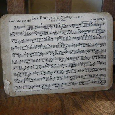 フランス 古い楽譜ボード (小) 3