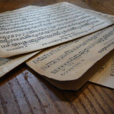 フランス 古い楽譜ボード (小) 4