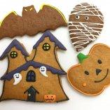 ハロウィンクッキー ホーンテットマンション、かぼちゃ、ミイラ、こうもり