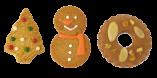 クリスマスのオーナメントクッキーセット