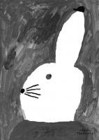 FINE LITTLE DAY | RABBIT WITH SMALL HAT | アートプリント/ポスター (50x70cm)