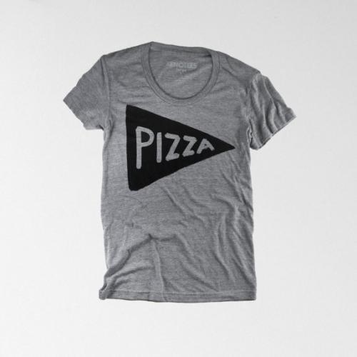 XENOTEES | PIZZA T SHIRT | Tシャツ (grey) | レディースSサイズ