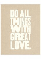 THE LOVE SHOP | DO ALL THINGS WITH GREAT LOVE | A4 アートプリント/ポスター