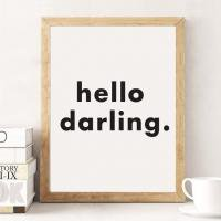 LOVELY POSTERS | HELLO DARLING | A3 アートプリント/ポスター
