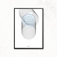 IHANNA HOME | SPIRAL POSTER | アートプリント/ポスター (50x70cm)