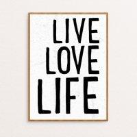 SEVENTY TREE | LIVE LOVE LIFE | アートプリント/ポスター (30x40cm)の商品画像