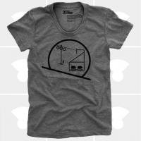 MEDIUM CONTROL | SKIING SNOWBOARDING CHAIRLIFT | Tシャツ (Heather Grey) | レディースMサイズ