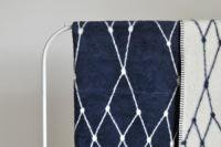 bastisRIKE | THE GRID - COTTON BLANKET (navy blue) | ブランケット